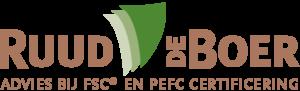 Logo Ruud de Boer: Advies bij FSC certificering en PEFC certificering voor drukkers | houtcertificering.nl